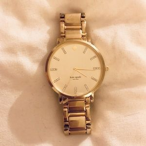 Kate Spade Gold Gramercy Watch w/ Crystals